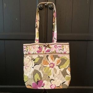 Vera Bradley Signature Tote Large Floral Pattern